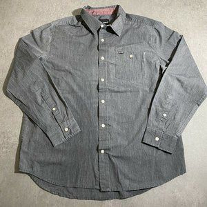 Hurley Shirt Button Front Mens Size Large Gray